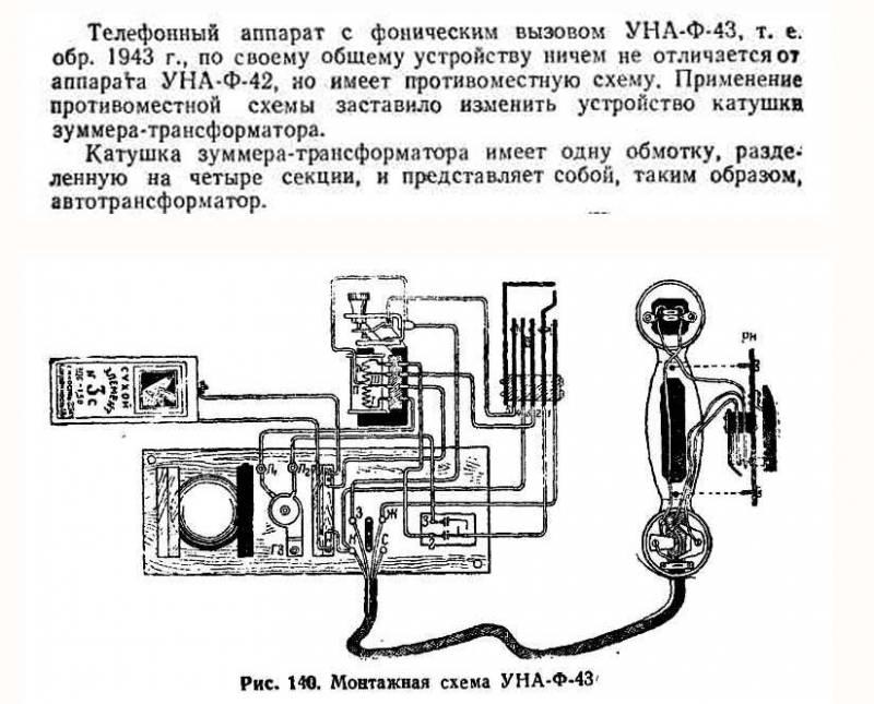 """Дальнейшее развитие УНА-Ф-42М, но для снижения помех дополнен включением по т.н.  """"противоместной схеме """" ."""
